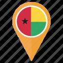 flag, guinea bissau, location, nation, navigation, pin