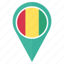 flag, guinea, country, location, national, navigation, pin