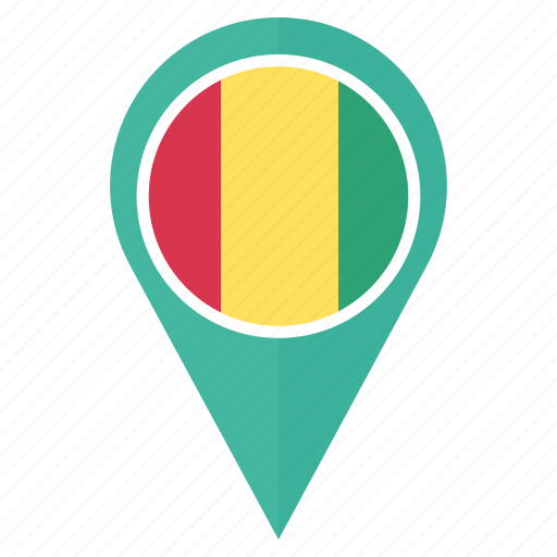 country, flag, guinea, location, national, navigation, pin icon