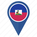 flag, haiti, location, national, navigation, pin icon