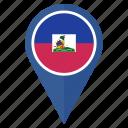 flag, haiti, location, national, navigation, pin