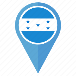 country, flag, honduras, location, nation, navigation icon