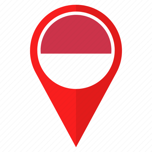 country, direction, flag, indonesia, location, navigation, pin icon
