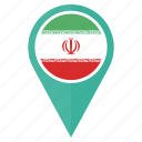 flag, iran, country, direction, location, navigation icon