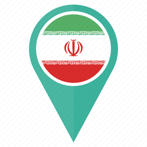country, direction, flag, iran, location, navigation icon