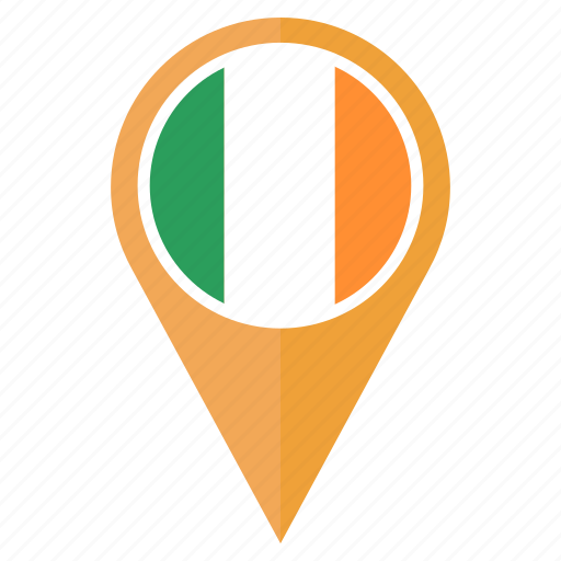 country, direction, flag, ireland, location, nation, navigation icon