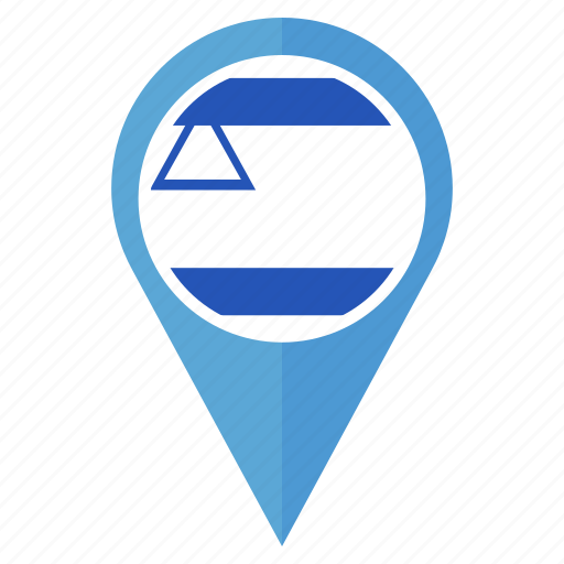 country, flag, israel, location, national, navigation, pin icon