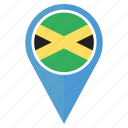 country, flag, jamaica, nation, navigation, pin, usain bolt icon