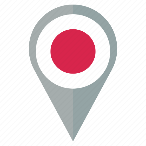 country, flag, japan, location, nation, navigation, pin icon