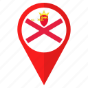 country, flag, jersey, location, navigation, pin icon