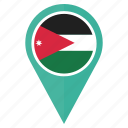 country, flag, jordan, location, navigation, pin icon