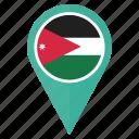 country, flag, jordan, location, navigation, pin icon