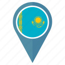 flag, kazakhstan, location, nation, navigation, pin, pointer