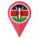country, direction, flag, kenya, location, navigation, pin icon