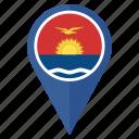 circle, country, flag, kiribati, location, nation, navigation icon