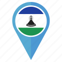 lesotho, flag, pin, country, navigation, location, nation
