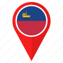 country, flag, liechtenstein, location, nation, navigation, pin icon