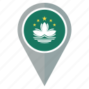 flag, macau, country, location, navigation, pin, national