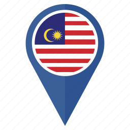 country, direction, flag, location, malaysia, navigation, pin icon