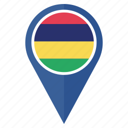 country, flag, location, mauritius, nation, national, navigation icon