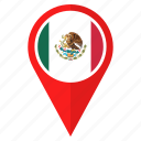 flag, mexico, location, nation, national, navigation, pin icon