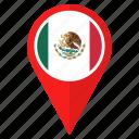 flag, mexico, location, nation, national, navigation, pin