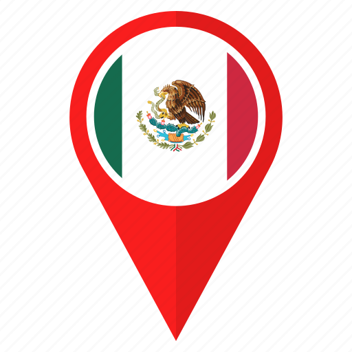 flag, location, mexico, nation, national, navigation, pin icon
