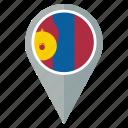flag, mongolia, country, nation, national, navigation, pin icon