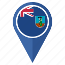 country, flag, location, montserrat, nation, navigation icon