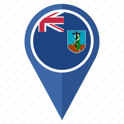 country, flag, location, montserrat, nation, navigation icon