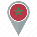 flag, morocco, pin, country, location, nation, navigation