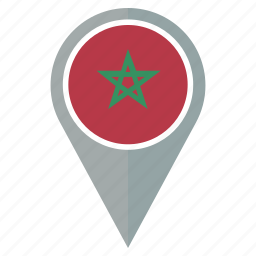 country, flag, location, morocco, nation, navigation, pin icon