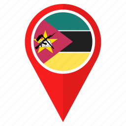country, flag, location, mozambique, nation, navigation, pin icon