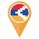 country, flag, nagorno karabakh, navigation, pin, pointer icon