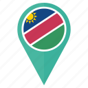 flag, namibia, country, location, nation, navigation, pin