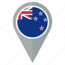 zealand, new, flag, country, navigation, pin, nation