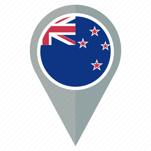 country, flag, nation, navigation, new, pin, zealand icon