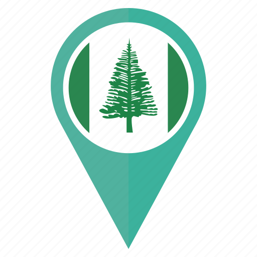 country, flag, location, nation, navigation, norfolk island, pin icon