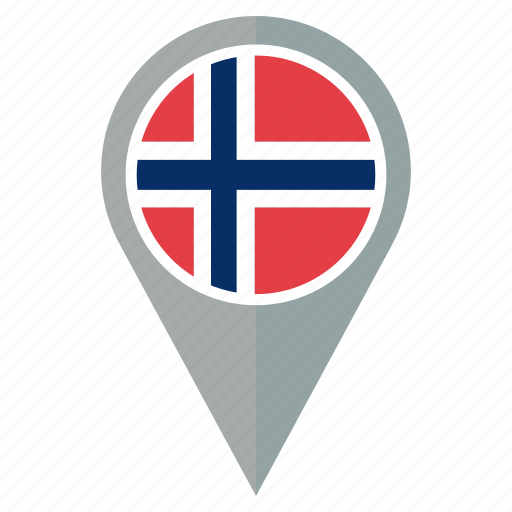 country, flag, location, map, navigation, norway, pin icon