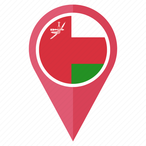 country, flag, location, national, navigation, oman, pin icon