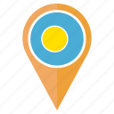 country, flag, location, national, navigation, palau, pin icon
