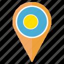 country, flag, location, national, navigation, palau, pin icon