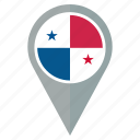 country, flag, location, nation, navigation, panama, pin icon
