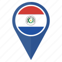 country, flag, location, national, navigation, paraguay icon