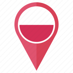 country, flag, gps, location, navigation, pin, poland icon