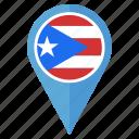 flag, puerto, ricol, nation, national, navigation, pin