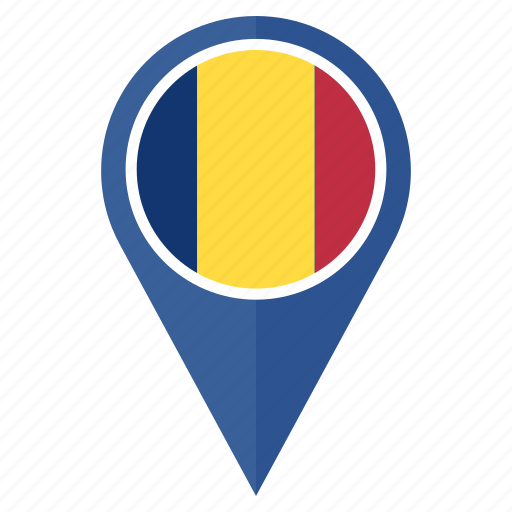 country, flag, location, nation, navigation, romania icon