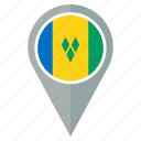 country, flag, location, nation, navigation, pin, saint pierre and miquelon icon