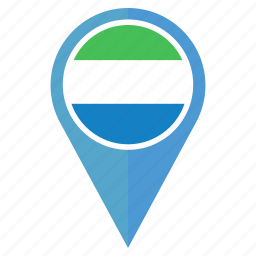 country, flag, location, nation, navigation, pin, sierra leone icon