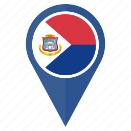 country, flag, location, maarten, navigation, pin, sint icon
